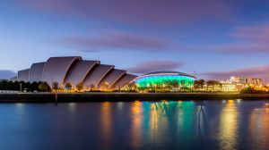 The Armadillo and the SSE Hydro in Panoramic View, Glasgow